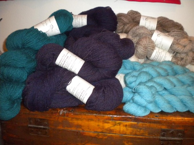 dyed yarn skeined