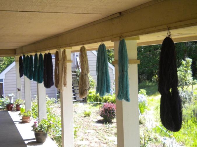 new dyed yarn